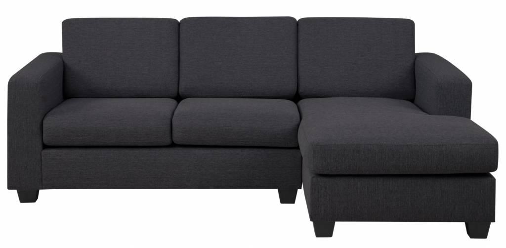 fyn 2 zits salon wise donkergrijs met ottomane rechts chaise longue meubeltrefpunt altijd. Black Bedroom Furniture Sets. Home Design Ideas