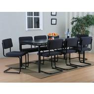 SOLLIDEN Peak vergaderset/eetkamerset grijs met 8 grijze stoelen