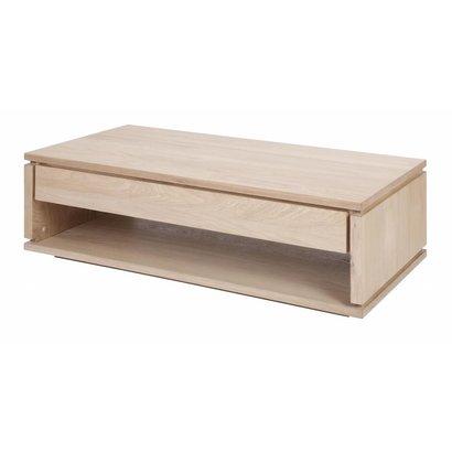 Boekenplank Met Lade.Tribe Salontafel Met 1 Lade En Plank Eiken Decor