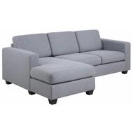 FYN Wise tweezits-zetel grijs met chaise links