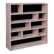Norrut Pia open wandkast met 10 vakken, zwart/hout