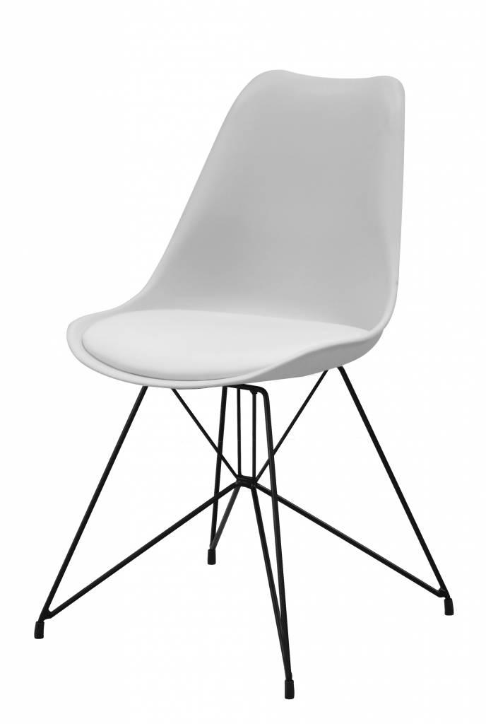 Annie kuipstoel wit zwart set van 2 stoelen - Houtkleur zwart ...
