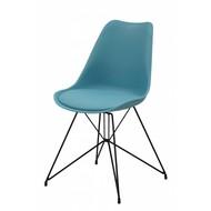 Annie kuipstoel blauw-zwart - set van 2 stoelen