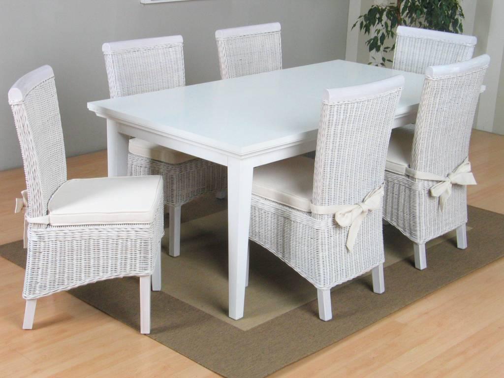Eettafel Met 6 Witte Stoelen.Eethoek Met 6 Stoelen