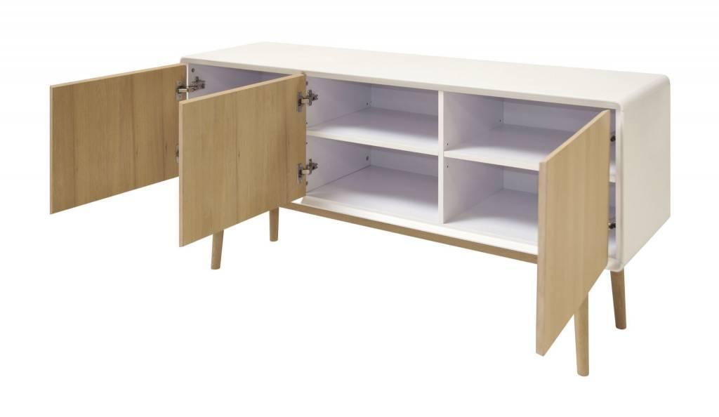 Bell dressoir wit/eiken Scandinavisch design
