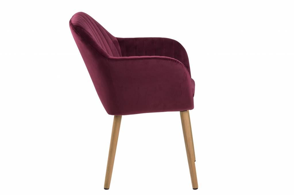 Oud Roze Fauteuil : Fyn emil fauteuil stof met verticale naden bordeaux paars