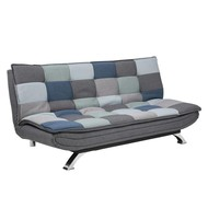 FYN Fanny slaapbank patchwork blauw/grijs