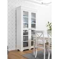 Charlot vitrinekast met 2 deuren wit