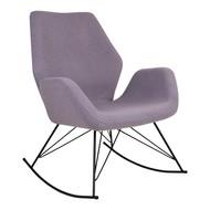 Norrut Nynne schommelstoel lichtgrijs met zwart metalen onderstel