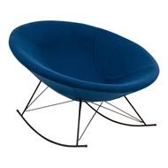 Norrut Kira schommelstoel rond petrol blauw