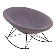 Norrut Kira schommelstoel rond lichtgrijs