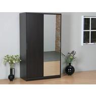 SOLLIDEN Kaja schuifdeurkast 2-deurs kledingkast met spiegel espressokleur