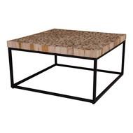 Norrut Kruse salontafel vierkant hout met metalen onderstel