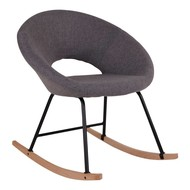 Norrut Spel schommelstoel grijs met beukenhouten onderstel