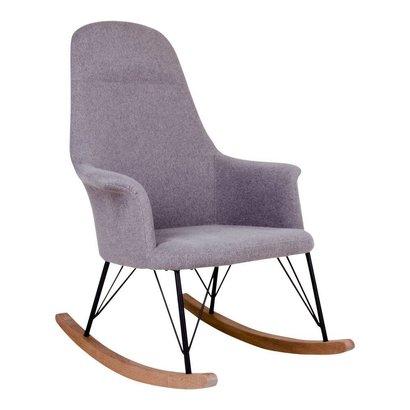Norrut Villy schommelstoel vilt grijs met zwart onderstel