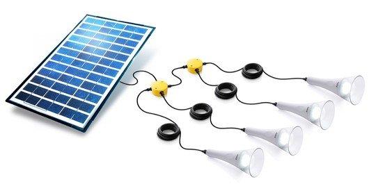 Sundaya 4 T-Lite 180 Solar Lightkit White