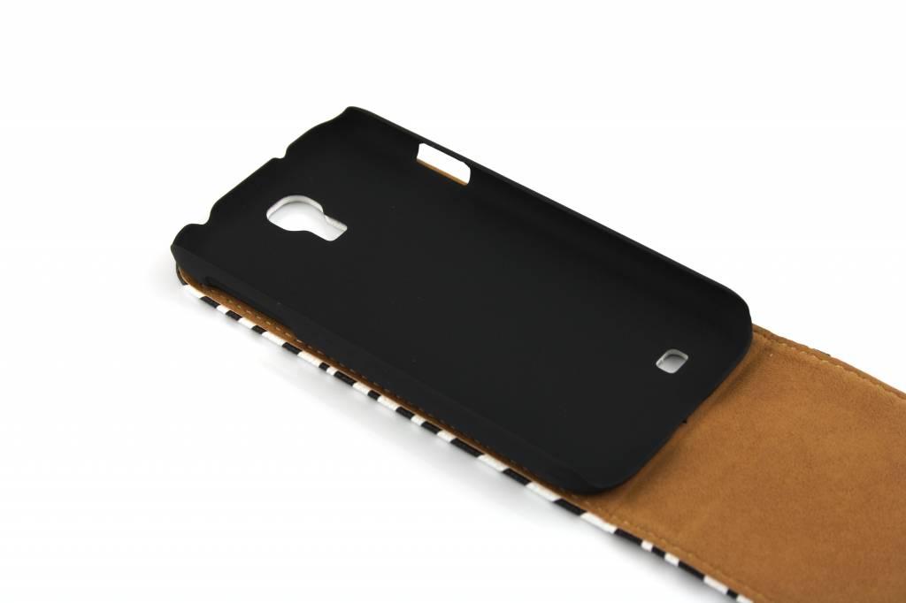 Zèbre Classique Assez Fort Flip Cas Pour Les I9500 Samsung Galaxy nXPnc8