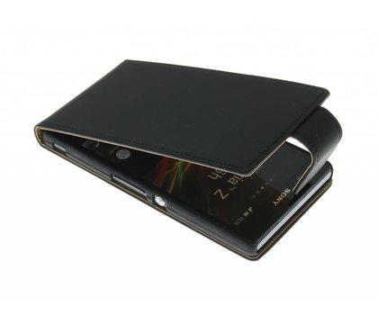 Zwarte classic flipcase Sony Xperia Z