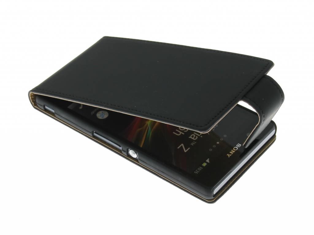 Zwarte classic flipcase voor de Sony Xperia Z