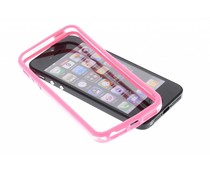 Roze transparante bumper iPhone 5 / 5s / SE