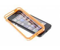 Oranje transparante bumper iPhone 5 / 5s / SE