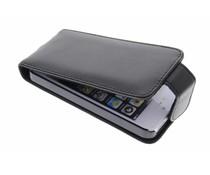 Zwart stijlvolle flipcase iPhone 5 / 5s / SE