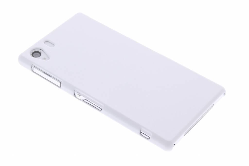 Wit effen hardcase hoesje voor de Sony Xperia Z1