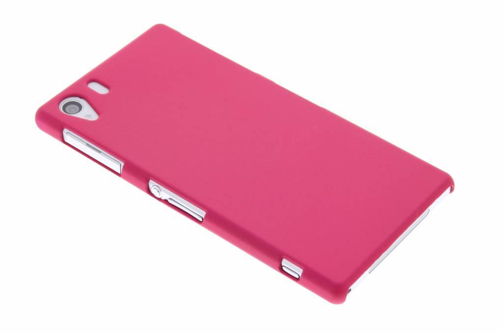 Fuchsia effen hardcase hoesje voor de Sony Xperia Z1