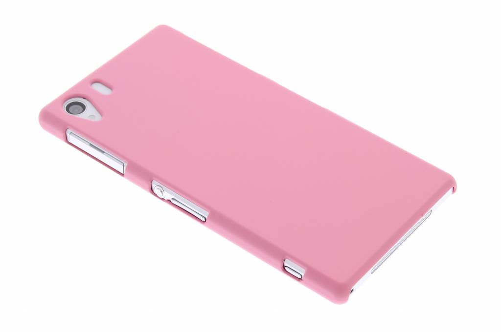 Roze effen hardcase hoesje voor de Sony Xperia Z1
