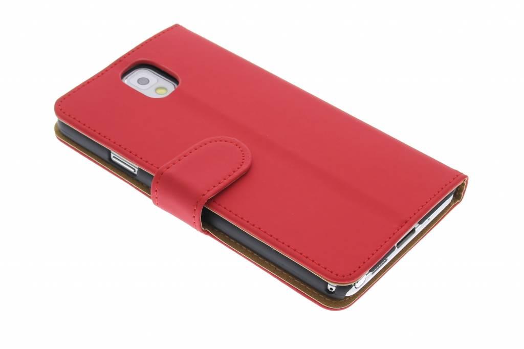 Rood effen booktype voor de Samsung Galaxy Note 3