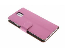 Roze effen booktype Samsung Galaxy Note 3