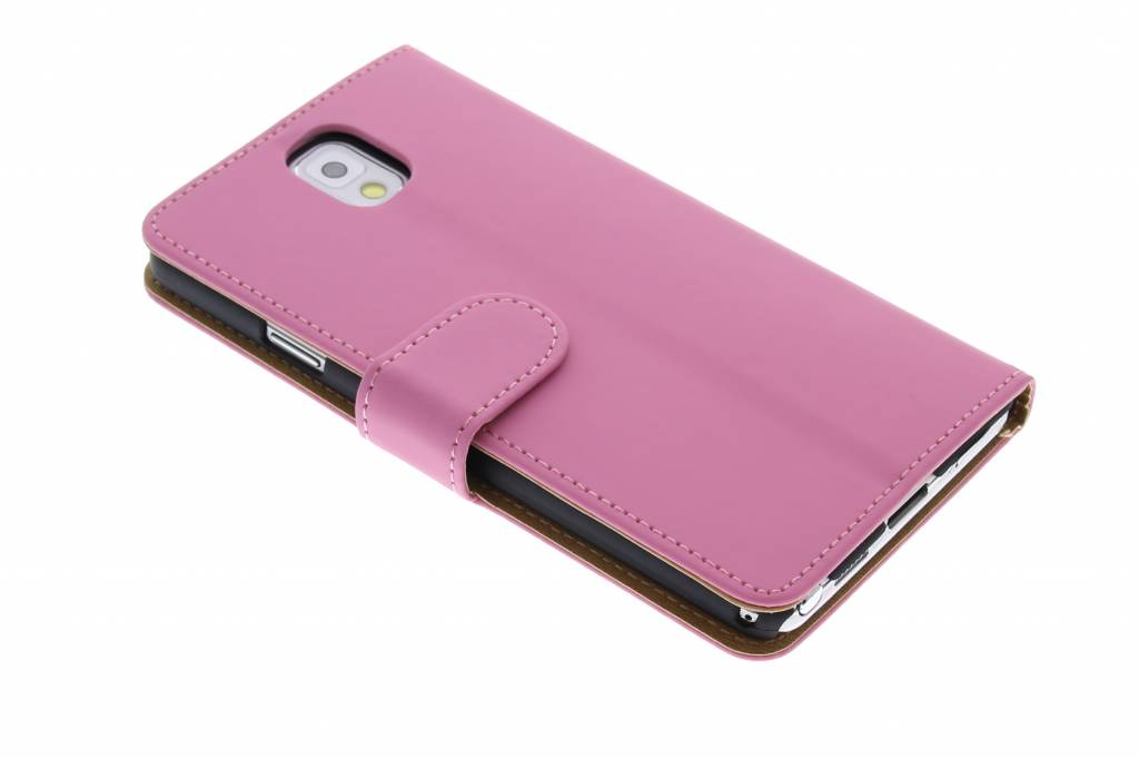 Roze effen booktype voor de Samsung Galaxy Note 3