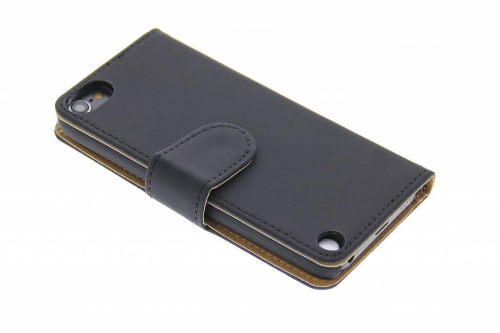 Zwart effen booktype hoes voor de iPod Touch 5g / 6