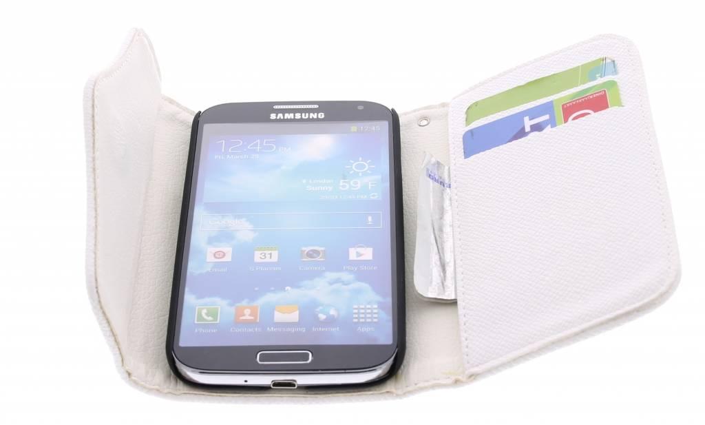 Blanc Étui Portefeuille Classique Pour Les I9500 Samsung Galaxy jzYvDwjFtL