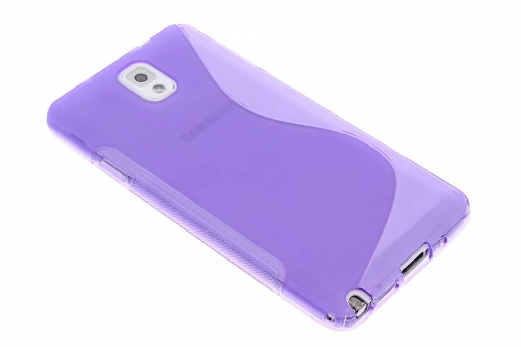 Paars siliconen S-Line hoesje voor de Samsung Galaxy Note 3