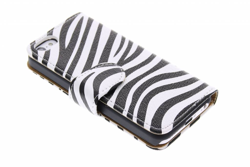 Zebra booktype hoes voor iPhone 5c