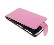 Roze classic flipcase Sony Xperia Z1
