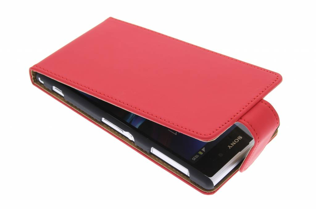 Rood classic flipcase voor Sony Xperia Z1