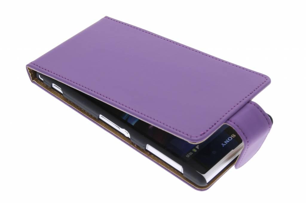 Paars classic flipcase voor Sony Xperia Z1