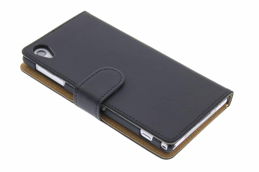 Zwart effen booktype hoes voor Sony Xperia Z1