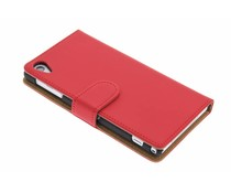 Rood effen booktype hoes Sony Xperia Z1
