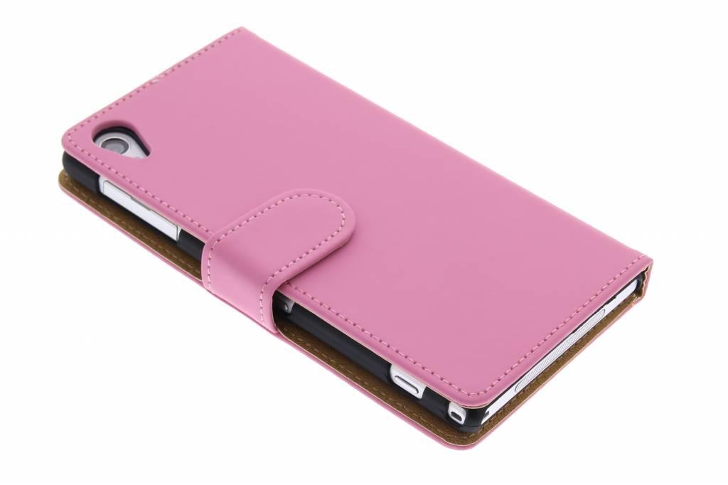 Roze effen booktype hoes voor Sony Xperia Z1