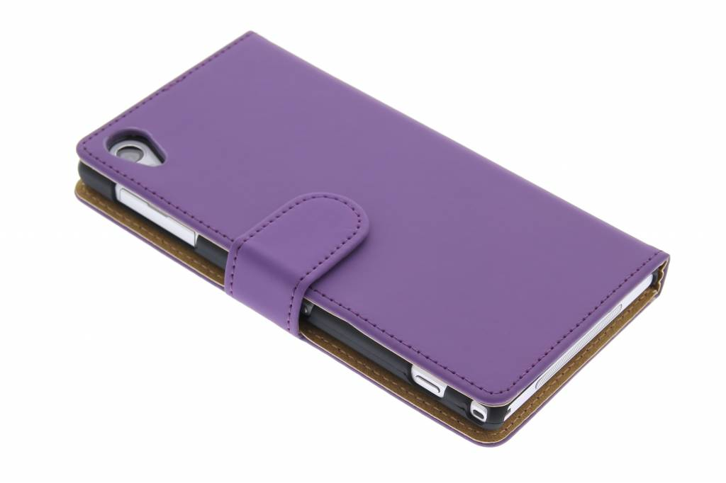 Paars effen booktype hoes voor Sony Xperia Z1