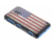 Mat Amerikaanse vlag hardcase hoesje Nokia Lumia 620