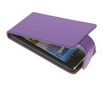 Paars classic flipcase Huawei Ascend G510