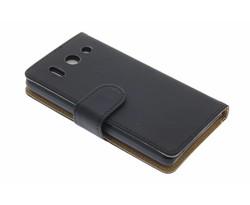 Zwart effen booktype hoes Huawei Ascend G510