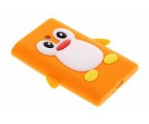 Oranje pinguin siliconen hoesje LG Optimus L3