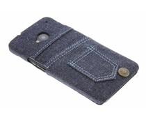 Denim jeans hardcase hoesje HTC One