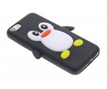 Zwart pinguin siliconen hoesje iPhone 5c