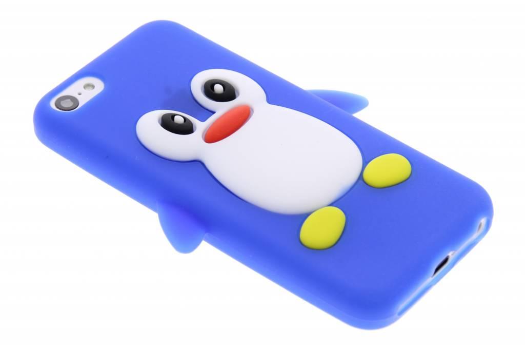 Blauw pinguin siliconen hoesje voor de iPhone 5c